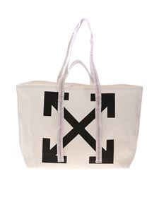 Off-White - Canva Commerciale Tote shopper in white