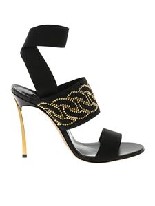 Casadei - Blade Runchain sandals in black