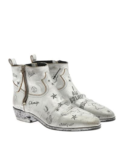 Golden Goose - Viand ankle boots in silver color