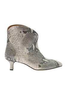 Paris Texas - Reptile print ankle boots in grey and black