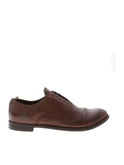 Officine Creative - Leather derby in brown