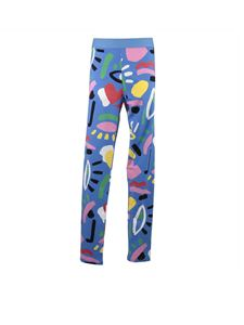 Stella McCartney Kids - Leggings Graphic Face blu