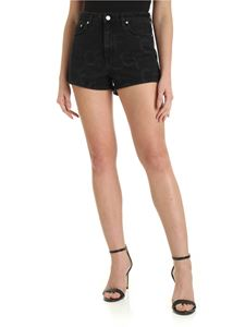 Chiara Ferragni - CF print denim shorts in black