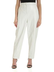 Pinko - Profitterol washed effect pants in white