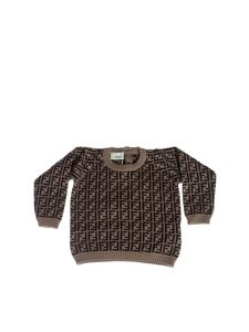 Fendi Jr - Brown and beige FF pullover