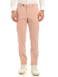 PT01 - Ironed crease down the leg cotton pants in pink