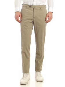 PT01 - Ironed crease down the leg cotton pants in beige