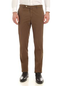 PT01 - Embossed cotton pants in brown