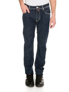 Jacob Cohën - 5 pocket jeans in blue with contrasting stitching