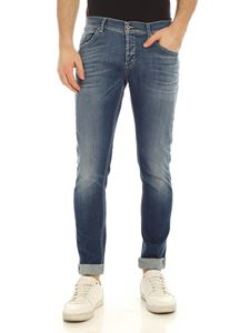 Dondup - Ritchie destroyed effect jeans in blue