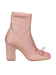 Red Valentino - Ankle boots in pink stretch fabric