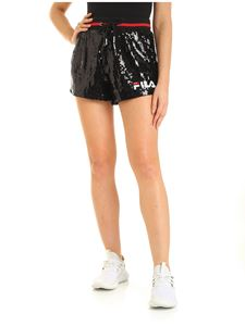 Fila - Kiku sequin shorts in blac with logo