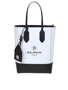 Balmain - Small tote bag in white with logo