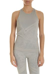 Adidas by Stella McCartney - Essential Logo top in dove grey