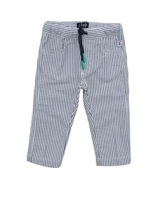 Il Gufo - Striped pants in white and blue