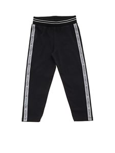 Moncler Jr - Branded side bands leggings in black