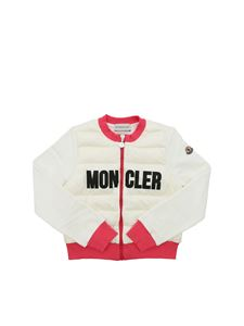 Moncler Jr - Moncler logo sweatshirt in white