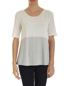 Kangra Cashmere - Knit T-shirt in white and grey