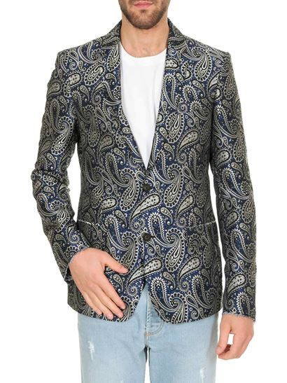 Golden Goose - Milano jacquard jacket in shades of blue