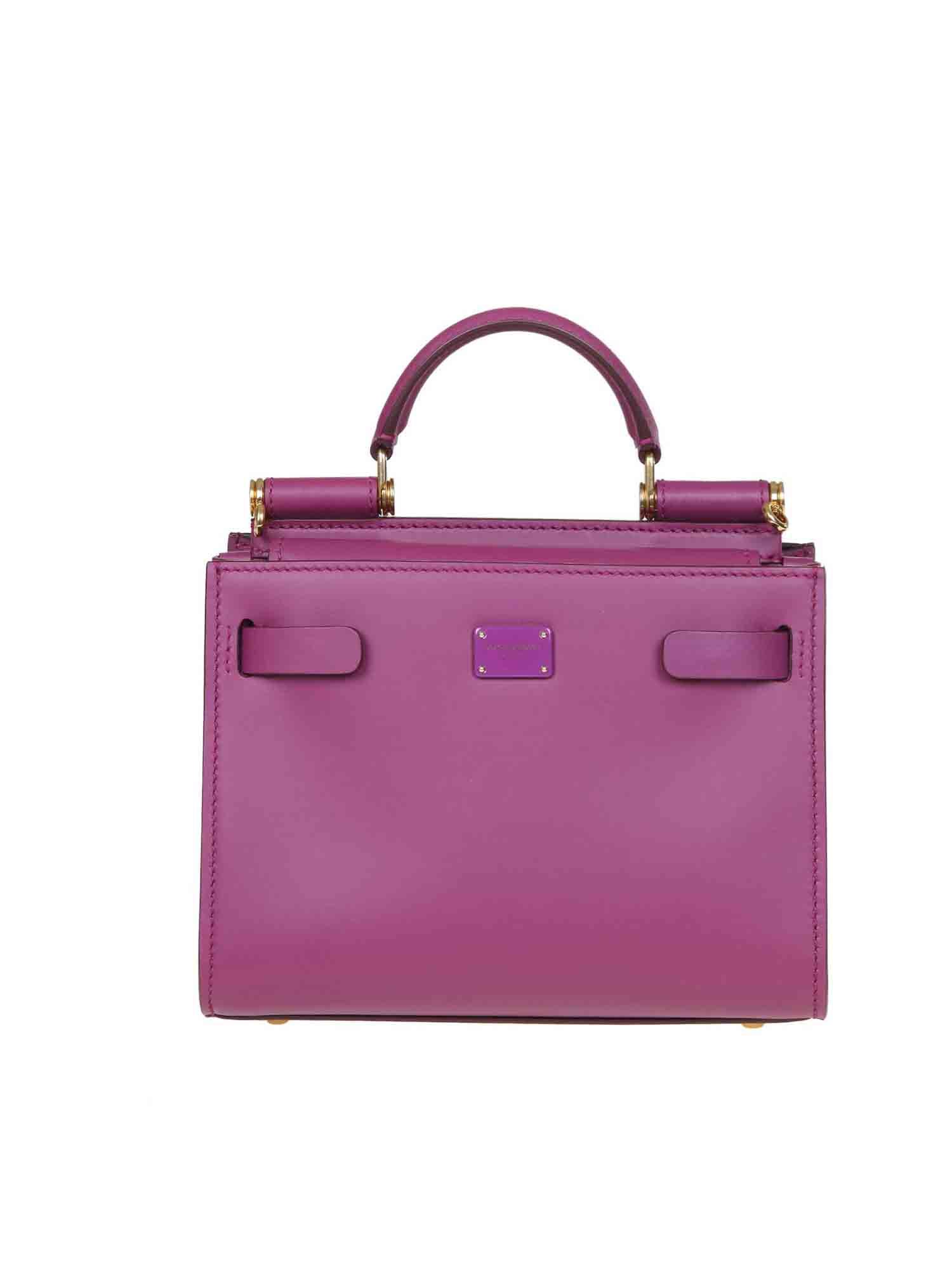 DOLCE & GABBANA SICILY 62 MINI BAG IN PLUM COLOR