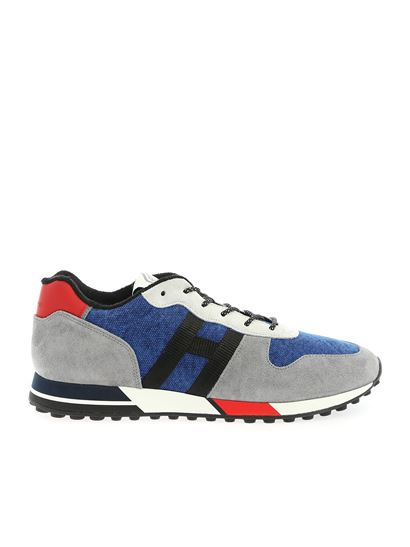 Hogan Spring Summer 2020 h383 sneakers in gray and blue ...