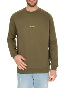MSGM - Micro Logo MSGM sweatshirt in army green