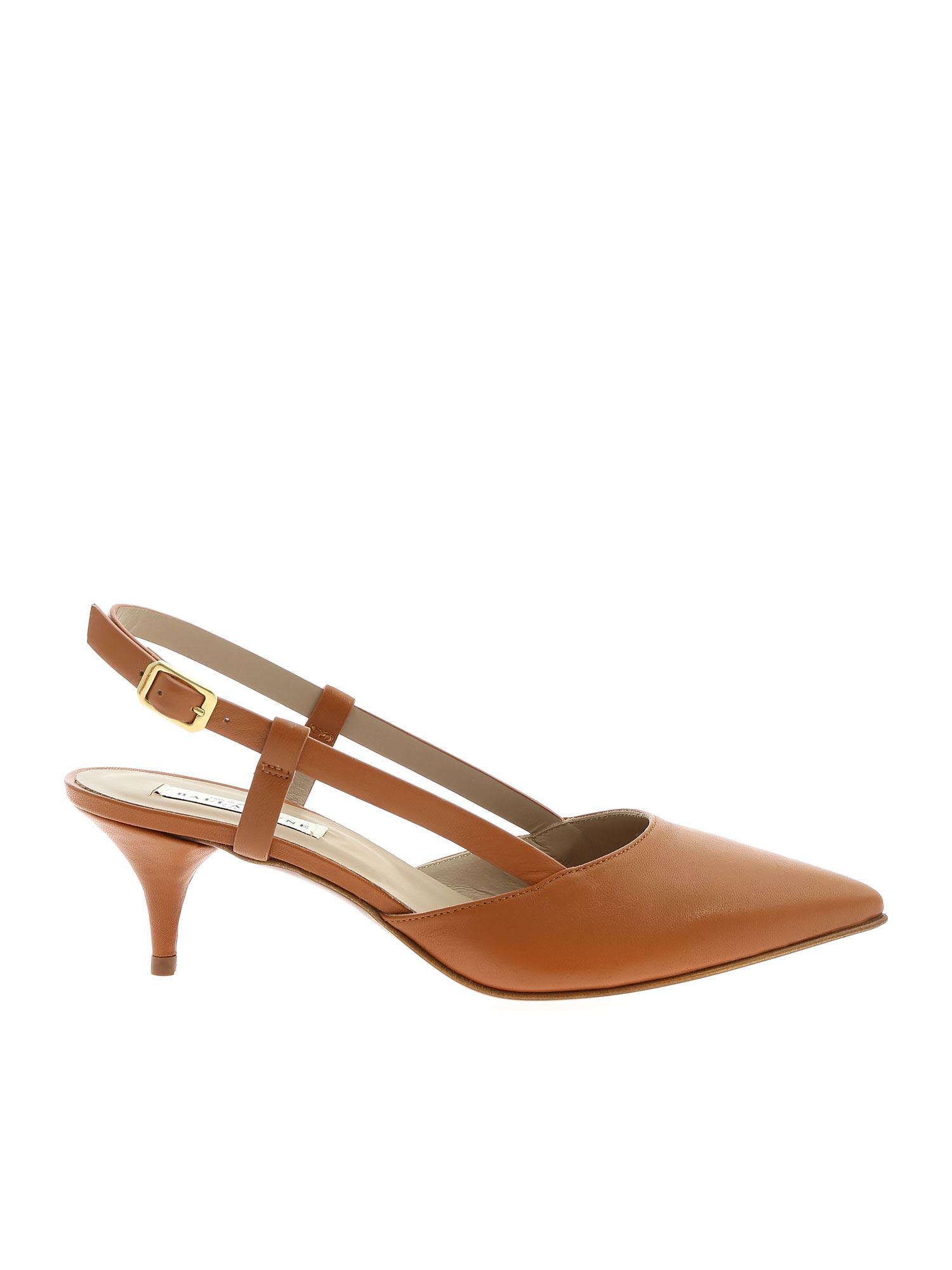 Ballantyne COCCIO HEELED SLINGBACKS IN TAN COLOR