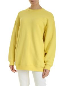 Acne Studios - Inverted label sweatshirt in canary yellow