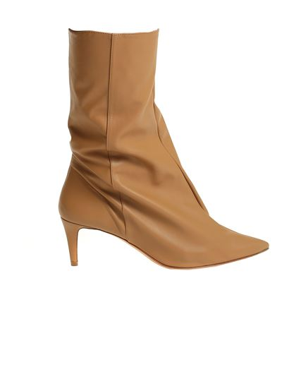 Acne Studios - Zipped ankle boots in Camel brown