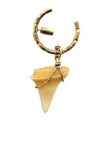 Acne Studios - Shark tooth shaped single earring in white