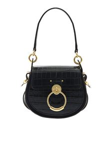 Chloé - Tess reptile effect leather bag in blue