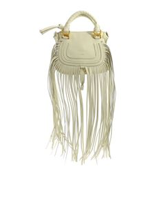 Chloé - Marcie white bag with fringes