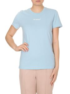 Off-White - Arrow Sketch Casual T-shirt in light blue