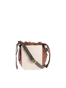 Marni - Gusset bag in white and brown