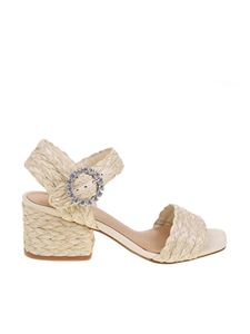 Paloma Barceló - Raffia sandal in natural color