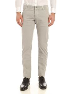 Jacob Cohën - Tone-on-tone logo pants in grey