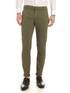 Dondup - Gaubert logo pants in Army green