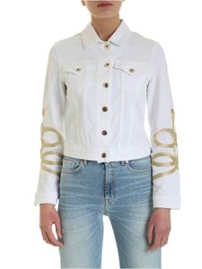 Dondup - Golden embroidered jacket in white