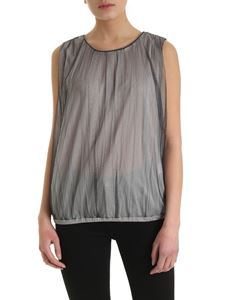 Fabiana Filippi - Tulle top in shades of grey and black