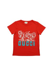 Gucci - Tiger print t-shirt in red