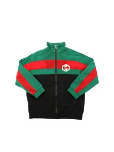 Gucci - Jacket in balck with green and red band