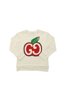 Gucci - GG apple print sweatshirt in ivory color