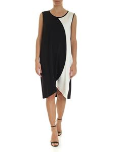 Fay - Oversize sleeveless dress in black and white