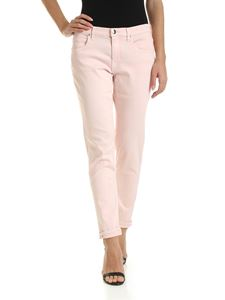 Jacob Cohën - Karen trousers with white logo in powder pink