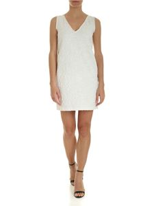 Ermanno by Ermanno Scervino - Sleeveless embroidered dress in white cotton