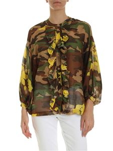 Ermanno by Ermanno Scervino - Camouflage ruffled shirt