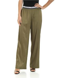 Ermanno by Ermanno Scervino - Branded elastic trousers in army green