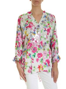 Ermanno by Ermanno Scervino - Multicolor flowers print blouse in white