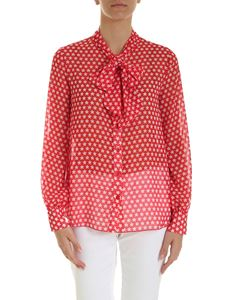 Ermanno by Ermanno Scervino - Stars print georgette shirt in red