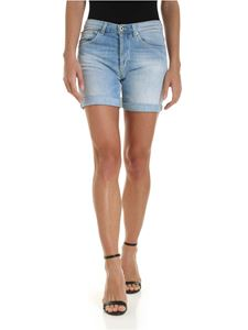 Dondup - New Holly shorts in faded light blue denim